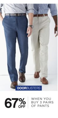 DOORBUSTERS | 67% OFF WHEN YOU BUYS 3 PAIRS OF PANTS