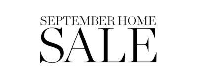 September Home Sale