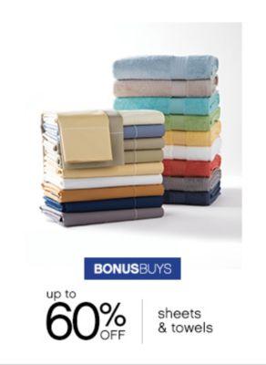 sheets towels