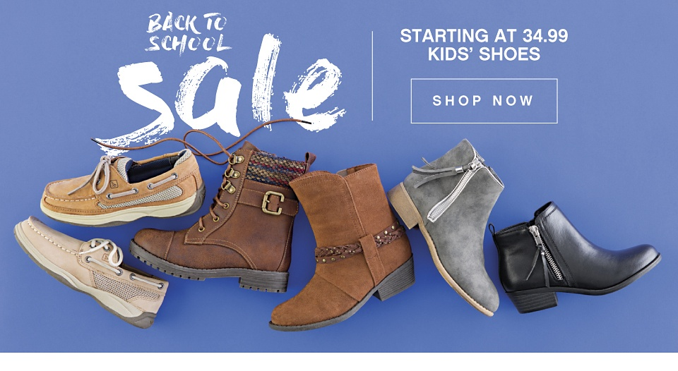 Back to School Sale Starting at 34.99 Kids' Shoes - Shop Now