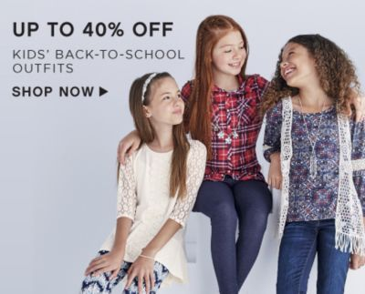 Up to 40% off Kids' Back-to-School Outfits - Shop Now