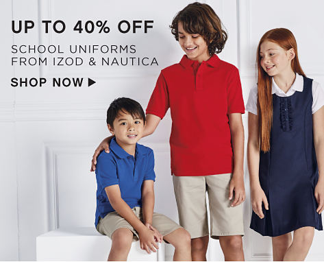 Up to 40% off School Uniforms from IZOD & Nautica - Shop Now