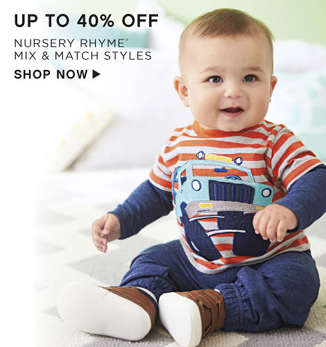 Up to 40% off Nursery Rhyme Mix & Match Styles - Shop Now