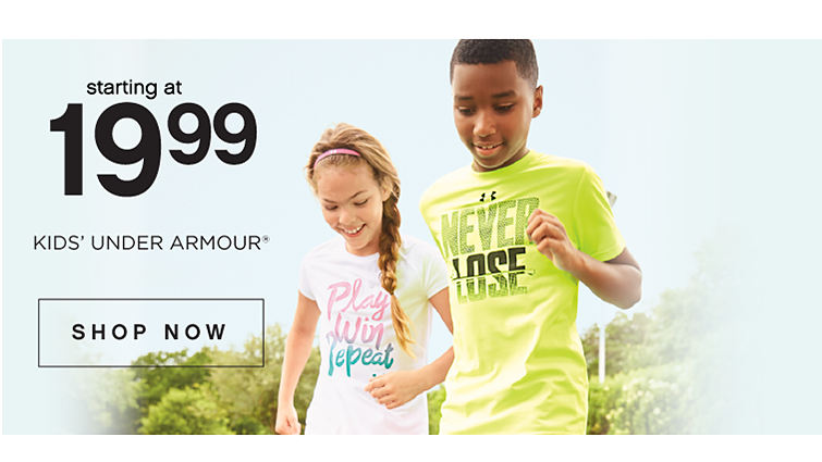 starting at 19.99 kid's under armour registered trademark. Shop Now.