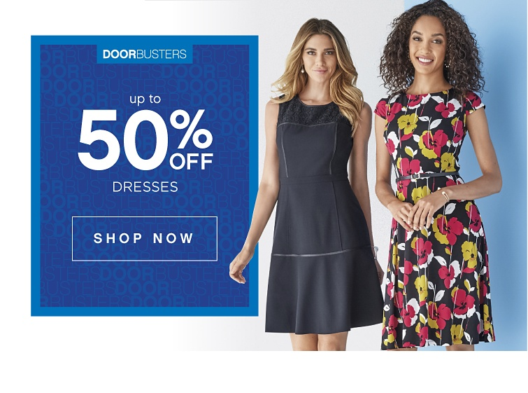 Doorbusters - Up to 50% Off Dresses Shop Now