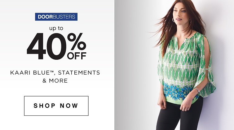 Doorbusters - Up to 40% Off Kaari Blue Statements & More - Shop Now