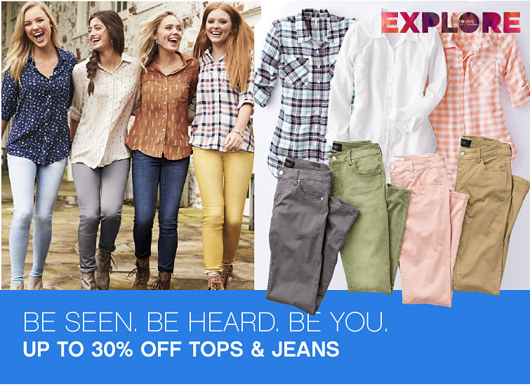 Explore Young Contemporary. Be Seen. Be Heard. Be You. Up To 30% Off Tops and Jeans.