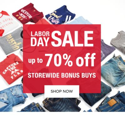 Labor Day Sale - Up to 70% off - Storewide Bonus Buys. Shop Now.