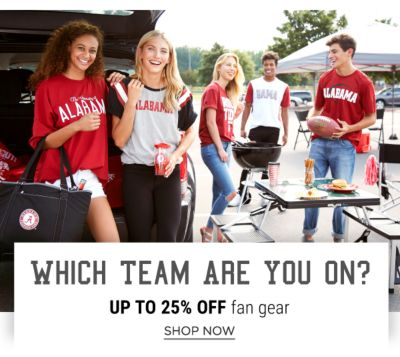 Which Team Are You On? Up to 25% off Fan Gear - Shop Now