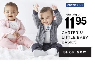 SUPERBUYS | starting at 11.95 CARTER'S® LITTLE BABY BASICS | SHOP NOW