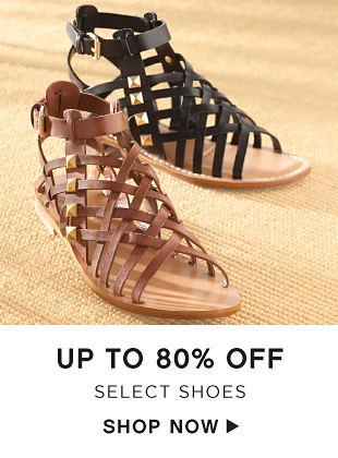 Up to 80% off Select Shoes - Shop Now