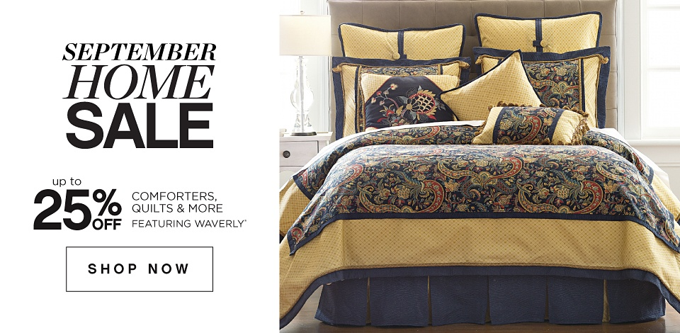 September Home Sale - Up to 25% off Comforters, Quilts & More featuring Waverly - Shop Now