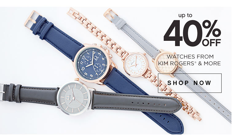 up to 40% Off Watches From Kim Rogers & More Shop Now
