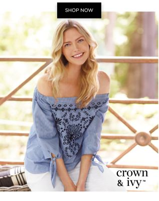 Exclusively at Belk - Up to 30% off Crown & Ivy - Shop Now