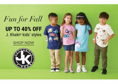 Fun for Fall - Up to 40% off J.Khaki Kids' Styles - Shop Now