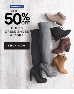 BONUSBUYS | up to 50% OFF BOOTS, DRESS SHOES & MORE | SHOP NOW
