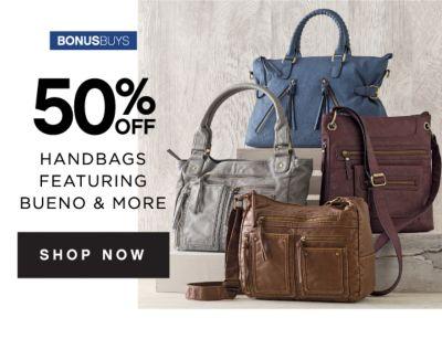 BONUSBUYS | 50% OFF HANDBAGS FEATURING BUENO & MORE | SHOP NOW