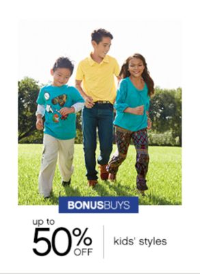 Bonus Buys | Up to 50% off kids' style