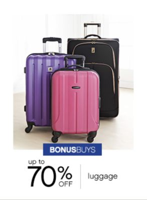 Bonus Buys | up to 70% off luggage