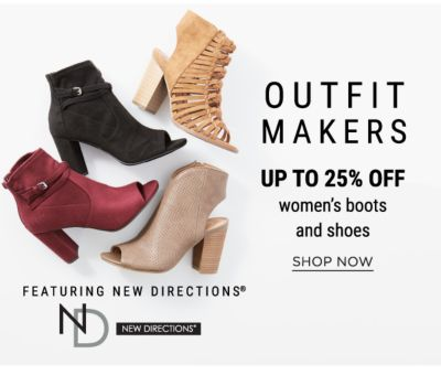 Outfit Makers - Up to 25% off Women's Boots and Shoes featuring New Directions - Shop Now