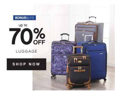 BONUSBUYS | up to 60% OFF LUGGAGE | SHOP NOW