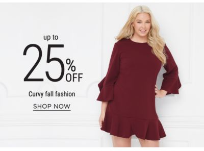 Up to 25% off Curvy fall fashion. Shop Now.