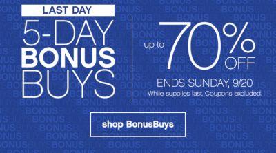 bonus buys banner