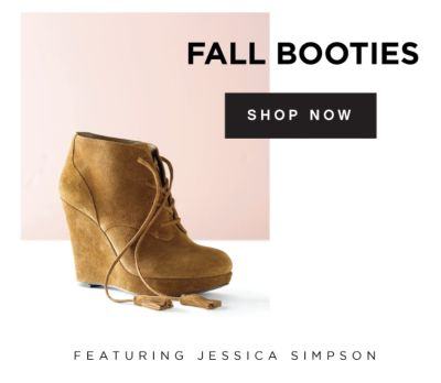 FALL BOOTIES | SHOP NOW | FEATURING JESSICA SIMPSON