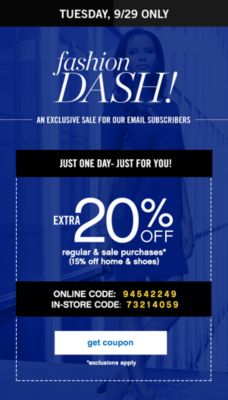 Just One Day - Just for You! Extra 20% Off