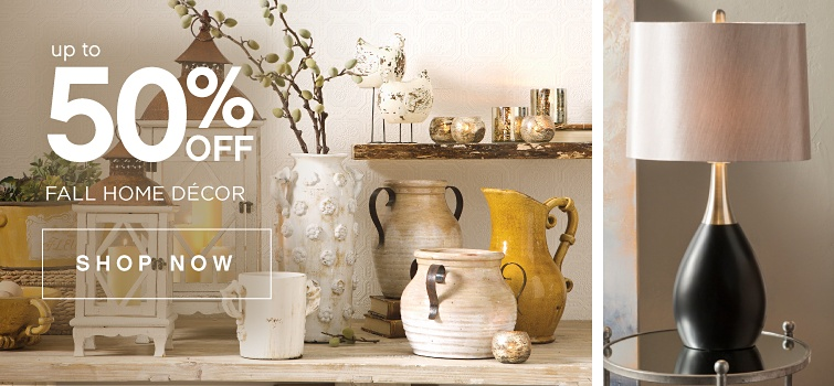 Up to 50% off Fall Decor | shop now