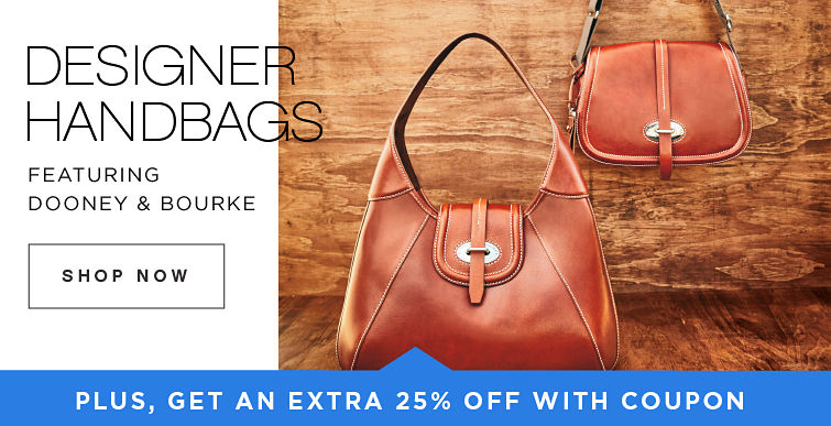 Designer Handbags Featuring Dooney & Bourke Shop Now Plus, Get an extra 25% Off with coupon