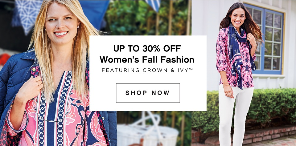 Up to 30% off Women's Fall Fashion featuring crown & ivy - Shop Now