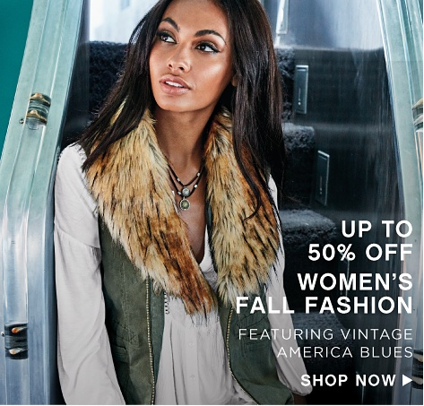 Up to 50% off Women's Fall Fashion featuring Vintage America Blues - Shop Now