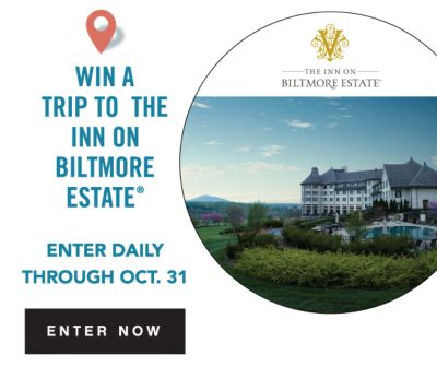 WIN A TRIP TO THE INN ON BILTMORE ESTATE® ENTER DAILY THOUGHT OCT. 31 | ENTER NOW