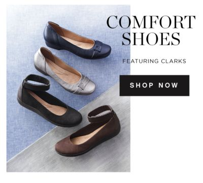 COMFORT SHOES | FEATURING CLARKS | SHOP NOW