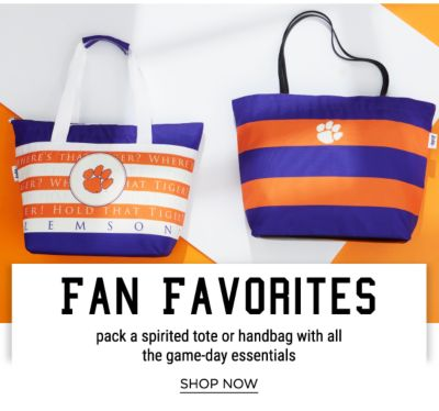 Fan Favorites - Pack a spirited tote or handbag with all the game-day essentials - Shop Now