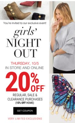mark your calendars! you're invited to girls night out