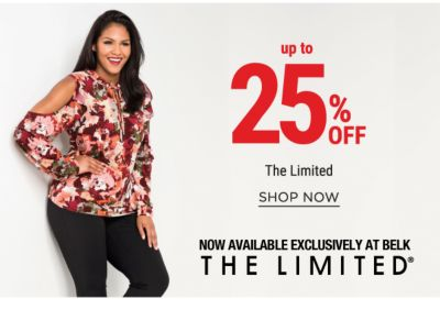 up to 25% off the limited