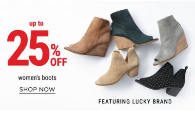 up to 25% off women's boots