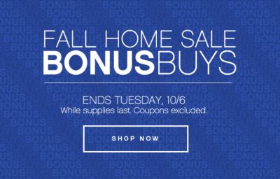 Fall Home Sale Bonus Buys