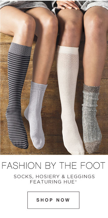 Fashion by the Foot socks, hosiery & leggings featuring Hue Shop Now