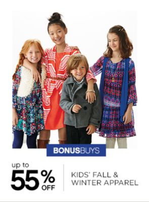Up to 55% off Kids Fall And Winter Apparel
