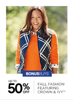 Up to 50% OFF Fall Fashion Featuring Crown Ivy