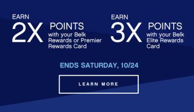 Earn 2x 3x Points