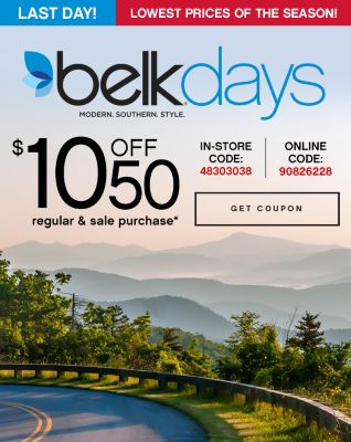 $10 Off $50 regular and sale purchase