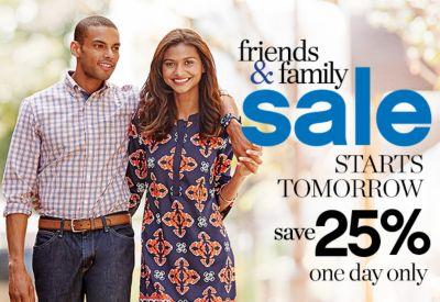 Friends & Family Sale Starts Tomorrow