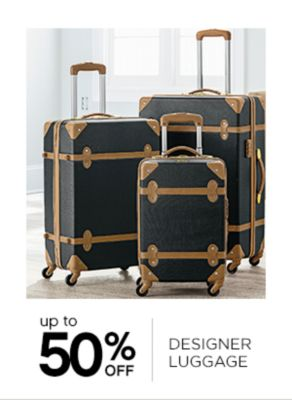 Up to 50% Off Designer Luggage