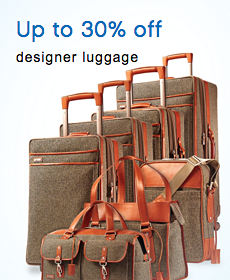 Up to 30% off designer luggage