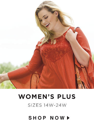 Women's Plus - sizes 14W-24W - SHOP NOW