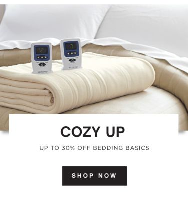 COZY UP | UP TO 30% OFF BEDDING BASICS | SHOP NOW
